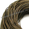 Cord Thread & Wire, Round enamel leather cord, Color #2 brown, Approx 5mm, 100 meters per bundle, Sold by bundles