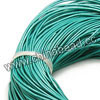 Cord Thread & Wire, Round enamel leather cord, Color #9 turquoise, Approx 5mm, 100 meters per bundle, Sold by bundles