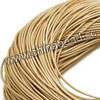 Cord Thread & Wire, Round enamel leather cord, Color #13 cream, Approx 5mm, 100 meters per bundle, Sold by bundles