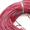 Cord Thread & Wire, Round enamel leather cord, Color #11 dark pink, Approx 5mm, 100 meters per bundle, Sold by bundles