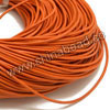 Cord Thread & Wire, Round Leather Cord, Color #15 Orange, Approx 2mm, 100 yards per bundle, Sold by bundles