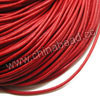 Cord Thread & Wire, Round Leather Cord, Color #2 Red, Approx 5mm, 50 yards per bundle, Sold by bundles