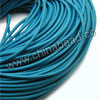 Cord Thread & Wire, Round Leather Cord, Color #4 Deep skyblue, Approx 5mm, 50 yards per bundle, Sold by bundles