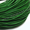 Cord Thread & Wire, Round Leather Cord, Color #5 Green, Approx 5mm, 50 yards per bundle, Sold by bundles