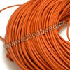Cord Thread & Wire, Round Leather Cord, Color #15 Orange, Approx 5mm, 50 yards per bundle, Sold by bundles