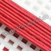 Cord Thread & Wire, Round Leather Cord, Color #2 Red, Approx 3mm, 100 yards per bundle, Sold by bundles