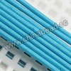 Cord Thread & Wire, Round Leather Cord, Color #4 Deep skyblue, Approx 3mm, 100 yards per bundle, Sold by bundles
