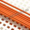 Cord Thread & Wire, Round Leather Cord, Color #15 Orange, Approx 3mm, 100 yards per bundle, Sold by bundles