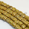 Natural look ceramic beads, Yellow, Cube, Approx 8x8mm, Hole: Approx 2mm, Sold by PCS