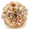 Rhinestone clay pave beads with color #27 champagne stones, Round, Approx 14mm, Hole: Approx 1.2mm, 100pcs per bag, Sold by bags.