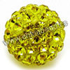 Rhinestone clay pave beads with color #28 citrine stones, Round, Approx 14mm, Hole: Approx 1.2mm, 100pcs per bag, Sold by bags.