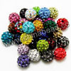 Rhinestone clay pave beads with color #30 assorted colors, Round, Approx 14mm, Hole: Approx 1.2mm, 100pcs per bag, Sold by bags.