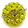 Rhinestone clay pave beads with color #28 citrine stones, Round, Approx 10mm, Hole: Approx 1.2mm, 100pcs per bag, Sold by bags.