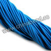 Cord Thread & Wire, Fabric Elastic Cord, Color #06 deep skyblue, Approx 2.5mm, 100 yards per bundle, Sold by bundles