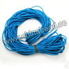 Cord Thread & Wire, Fabric Elastic Cord, Color #06 deep skyblue, Approx 2mm, 100 yards per bundle, Sold by bundles