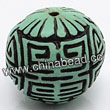 Cinnabar beads, Turquoise and Black, Longevity long life Chinese symbol round carved, Approx 23mm, Hole: Approx 2mm, Sold by PCS