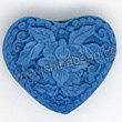 Cinnabar beads, Blue, Flower heart carved, Approx 28x24x13mm, Hole: Approx 2mm, Sold by PCS