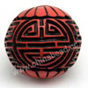 Cinnabar beads, Red and black, Longevity Chinese symbol round carved, Approx 26mm, Hole: Approx 2mm, Sold by PCS