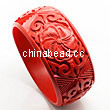 Cinnabar/Lacquer bangles/bracelets, Red, Carved Flower, The widest, OD78mm x H31mm x ID65mm, Sold by PCS