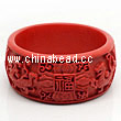 Cinnabar/Lacquer bangles/bracelets, Red, Carved Four therion, The widest, OD77mm x H33mm x ID62mm, Sold by PCS