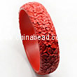 Cinnabar/Lacquer bangles/bracelets, Red, Carved Flower, Wide, OD80mm x H20mm x ID66mm, Sold by PCS