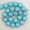 Gemstone beads, Dyed blue turquoise, Smooth round, Approx 16mm, Hole: Approx 1.2mm, Approx 25 pieces per strand, Sold by strands