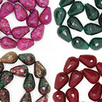 13x18mm Faceted Teardrop
