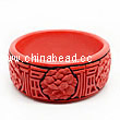 Cinnabar/Lacquer bangles/bracelets, Red & Black, Carved Flower, Good fortune Chinese symbol, The widest, OD82mm x H33mm x ID66mm, Sold by PCS