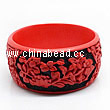 Cinnabar/Lacquer bangles/bracelets, Red & Black, Carved Good luck Chinese symbol, The widest, OD77mm x H33mm x ID62mm, Sold by PCS