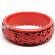 Cinnabar/Lacquer bangles/bracelets, Red & Black, Carved Dragon and phoenix animal, Large-diameter and large wide, OD87mm x H26mm x ID71mm, Sold by PCS