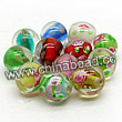 Glass Beads, Handmade lampwork, Crystal, Multicolored, Round, Charming, Approx 8mm, Hole:Approx 2mm, Sold by BAGS