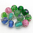 Glass Beads, Handmade lampwork, Crystal, Mixed colors, Round, Approx 10mm, Hole:Approx 2mm, Sold by BAGS