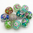 Glass Beads, Handmade lampwork, Crystal, Mixed colorful, Round, Approx 14mm, Hole:Approx 2mm, Sold by BAGS