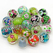 Glass Beads, Handmade lampwork, Crystal, Colorful, Round, Approx 12mm, Hole:Approx 2mm, Sold by BAGS