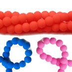 6mm Rubber Glass Beads
