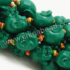 Gemstone Beads, Carved Maitreya Buddha design, Green, Approx 18x18mm, Hole: Approx 2mm, 20pcs per strand, Sold by strands