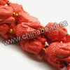 Gemstone Beads, Carved Buddha design, Orange, Approx 18x23x11mm, Hole: Approx 2mm, 15pcs per strand, Sold by strands