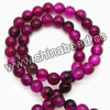 Gemstone Beads, Magenta rose agate, Smooth round, Approx 8mm, Hole: Approx 1.2mm, 49pcs per strand, Sold by strands