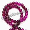 Gemstone Beads, Magenta rose agate, Smooth round, Approx 6mm, Hole: Approx 1mm, 65pcs per strand, Sold by strands