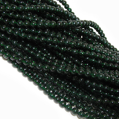 Green Goldstone Beads