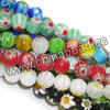 Glass chevron beads, Assorted colors, Smooth round, Approx 10mm, Hole: Approx 1mm, 40pcs per strand, Sold by strands