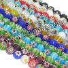 Glass chevron beads, Assorted colors, Faceted round, Approx 10mm, Hole: Approx 1mm, 40pcs per strand, Sold by strands
