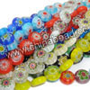 Glass chevron beads, Assorted colors, Smooth flat disc, Approx 8x4mm, Hole: Approx 1mm, 50pcs per strand, Sold by strands