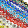 Glass chevron beads, Assorted colors, Smooth flat disc, Approx 12x5mm, Hole: Approx 1mm, 33pcs per strand, Sold by strands