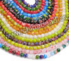 Millefiori glass beads, Assorted colors, Smooth round, Approx 4mm, Hole: Approx 0.8mm, 97pcs per strand, Sold by strands