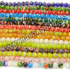 Millefiori glass beads, Assorted colors, Smooth round, Approx 8mm, Hole: Approx 1mm, 50pcs per strand, Sold by strands