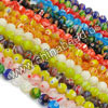 Millefiori glass beads, Assorted colors, Smooth round, Approx 10mm, Hole: Approx 1mm, 40pcs per strand, Sold by strands