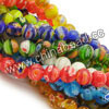 Millefiori glass beads, Assorted colors, Smooth round, Approx 12mm, Hole: Approx 1mm, 33pcs per strand, Sold by strands
