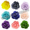 Gemstone Beads, Carved rose flower, Mixed plain colors, Approx 24x15mm, Hole: Approx 1mm, 100pcs per bag, Sold by bags