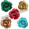 Gemstone Beads, Carved rose flower, Mixed plain colors, Approx 30x20mm, Hole: Approx 1.2mm, 100pcs per bag, Sold by bags